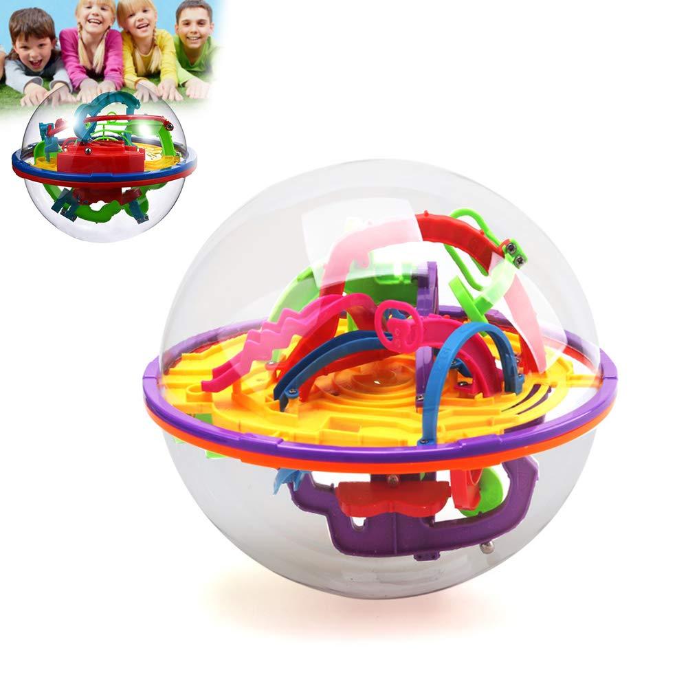 Gcroet 1pc Intelligence Marble Run Balle 3D Maze Ball Gravity Maze Perle Marble Ball Diff/éRents Obstacles Auxquels Se Affrontent pour Memory Teaser du Cerveau