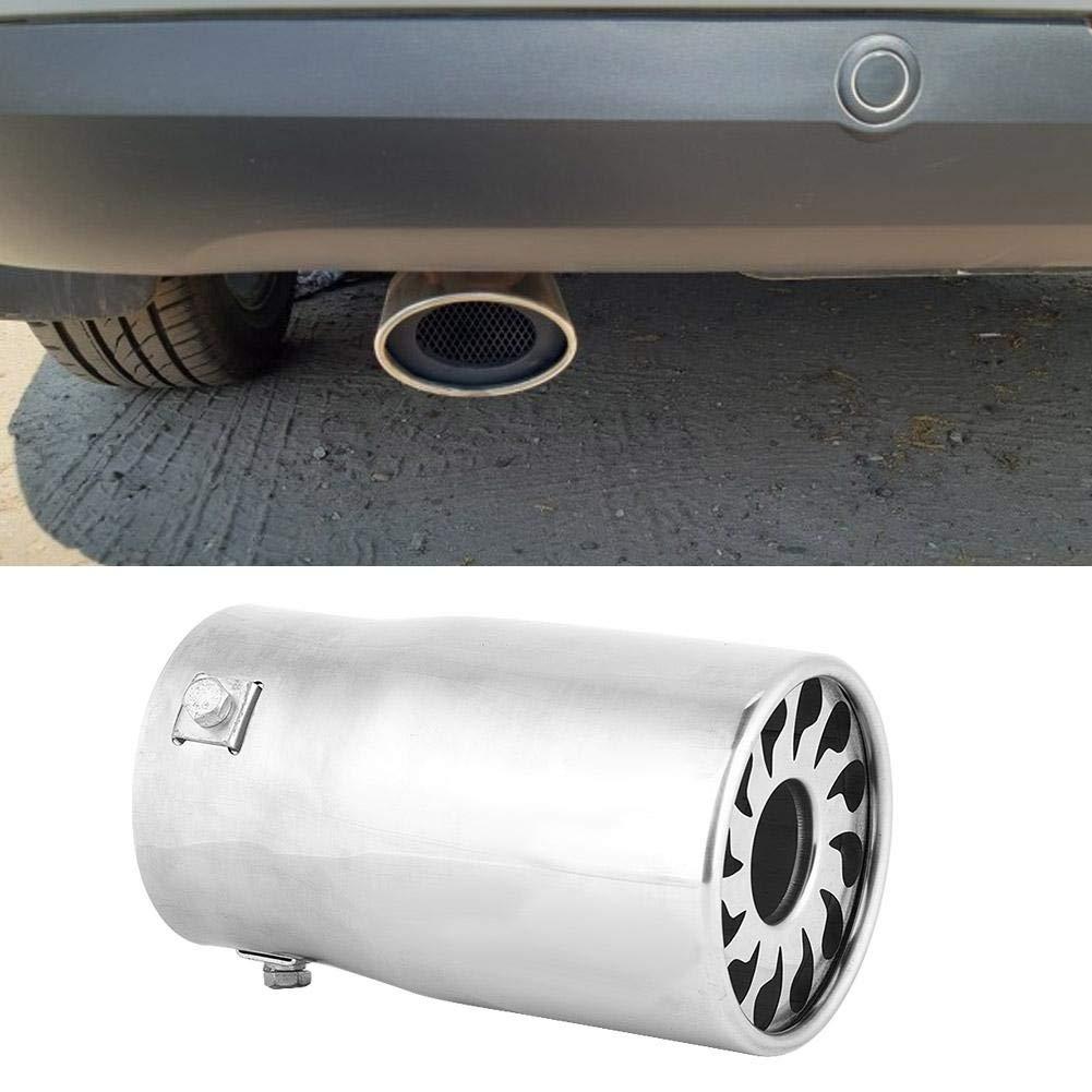 Gorgeri Durable Tubo de escape recto universal del coche Garganta de cola de la punta del silenciador trasero Acero inoxidable