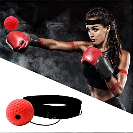 Boxing Fight Ball with Head Band Speed Training Reflex Reaction Gym Exercise Hot