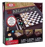 Ideal Premium Wood Cabinet 10 Game Set