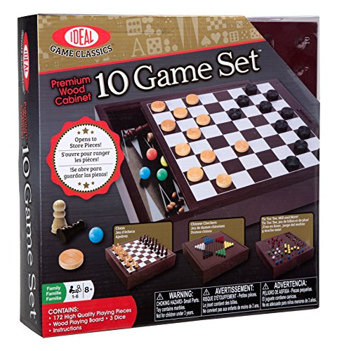 - Ideal Premium Wood Cabinet 10 Game Set