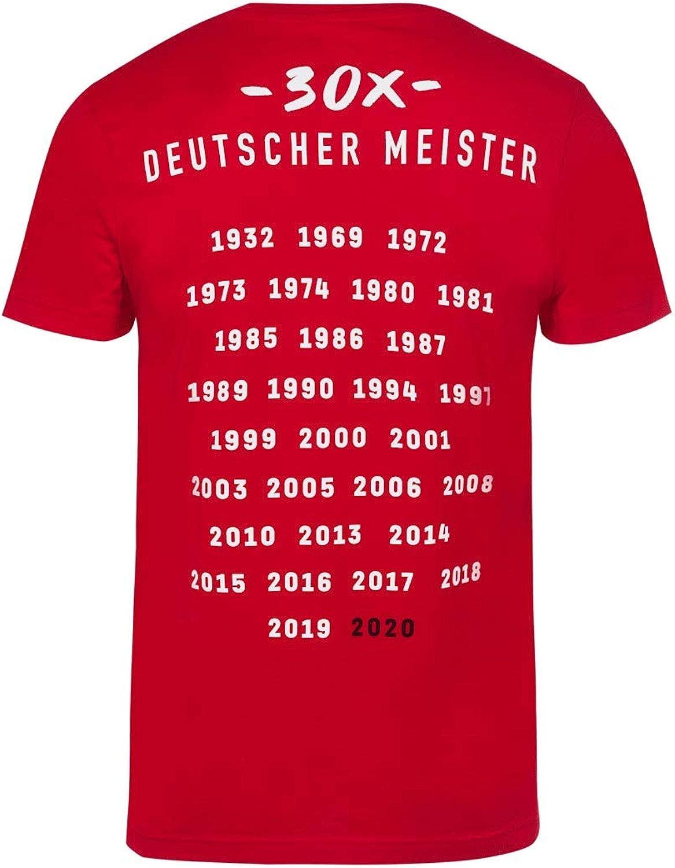 FC Bayern M/ünchen T-Shirt Deutscher Meister 2020 rot