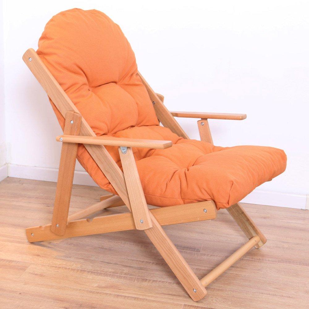 QFFL ソリッドウッドオールドマンフォール折りたたみリクライニング/オフィスシエスタシンプルな省スペースの背もたれの椅子/屋外カジュアルポータ\u200b\u200bブルビーチチェア(5色可能) アウトドアスツール (色 : B) B07F37P9GX B B
