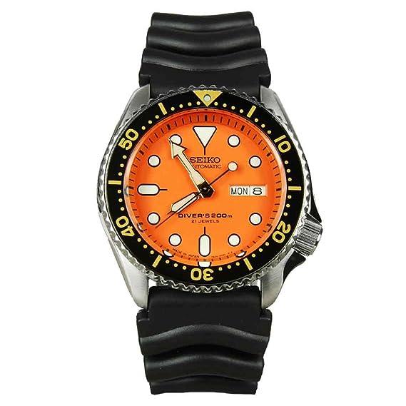 Seiko De los hombres Watch Automatic Divers JAPAN Reloj SKX011J1