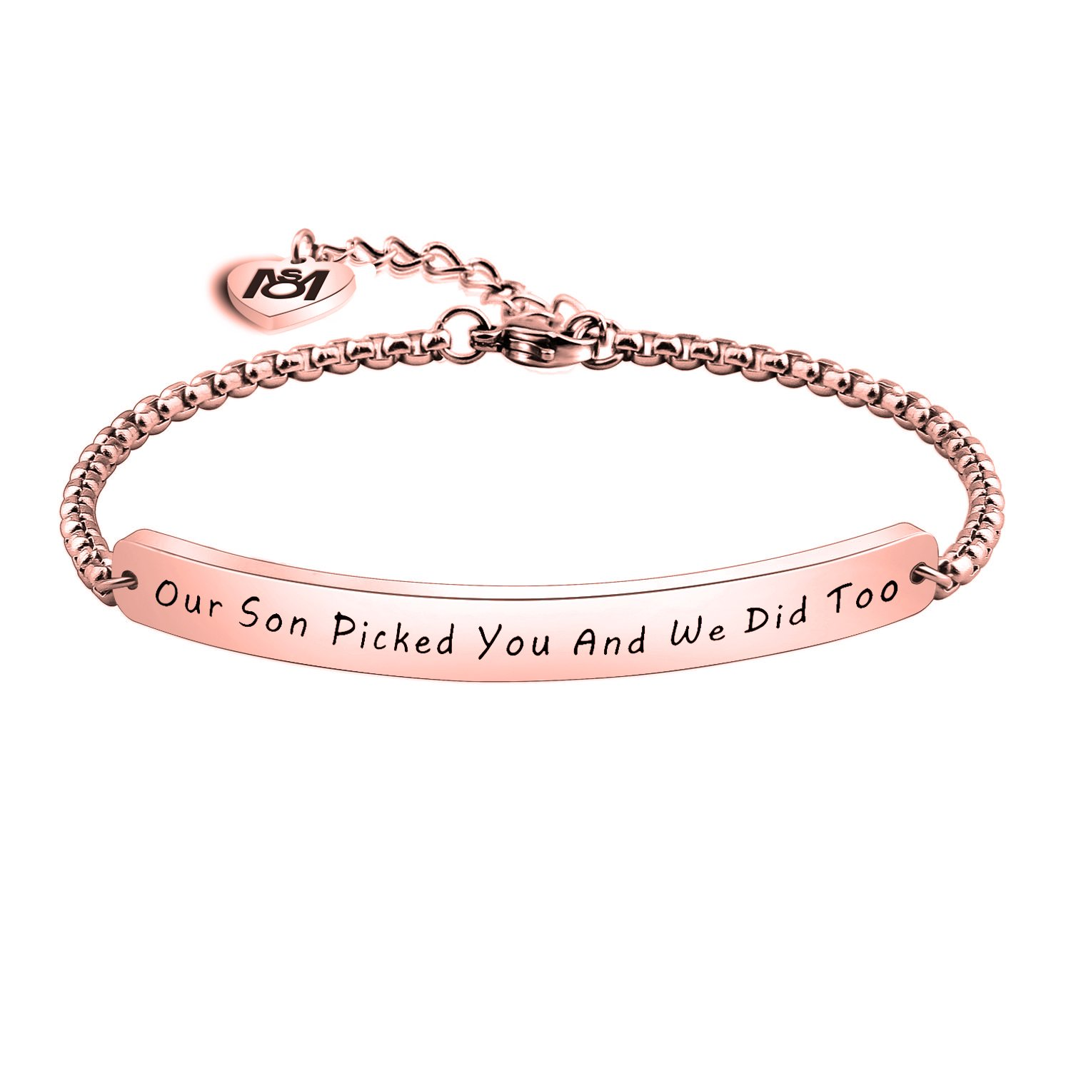 MYOSPARK Our Son Picked You And We Did Too Bracelet Daughter In Law Gift,Wedding Jewelry Gift for Bridal Shower (RG)