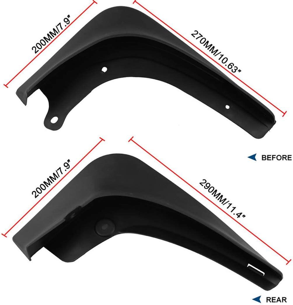 und Hinterrad Kotfl/ügel Conversion Zubeh/ör JGRH Mud Flaps Splash Guards Kompatibel mit Tesla Model 3 Vorder