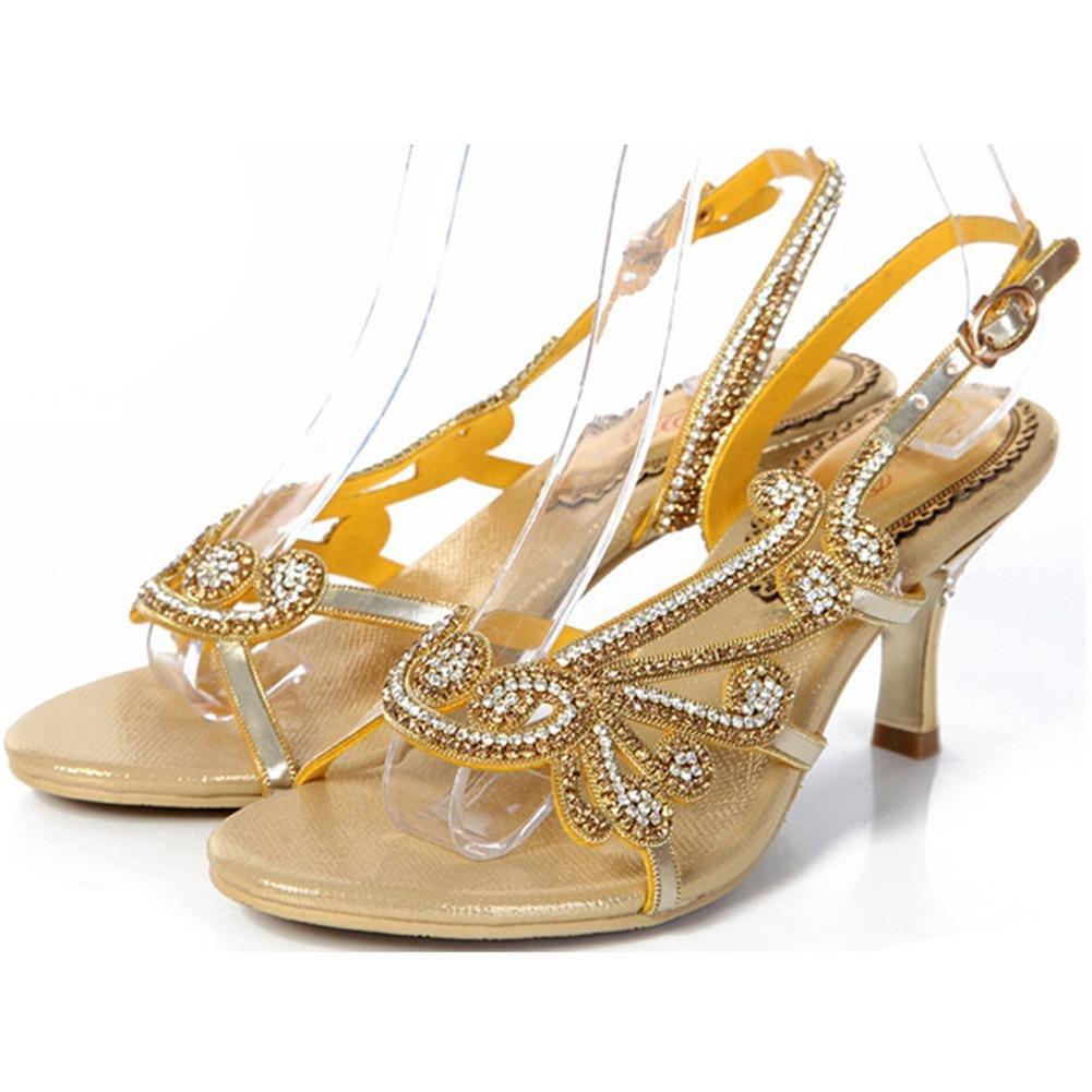 kristall sandalen frau diamant handgefertigt dünn high heels leder nacht verein party gurt schnalle hohl flip flops abend bankett pumps schuhe . purple . 36 3vWf7