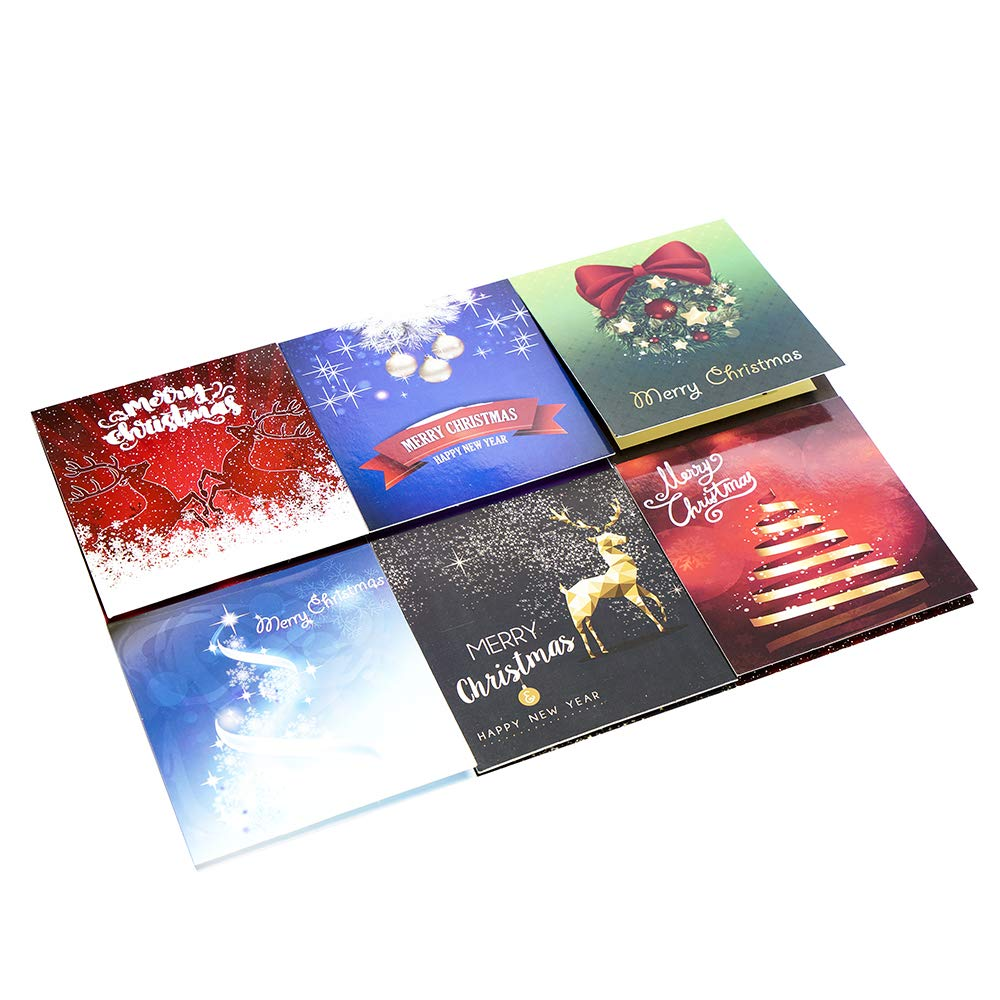 Amazon com : 3D Greeting Cards - Assorted Christmas Greeting Cards