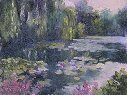 Monet's Garden II by Mary Jean Weber Laminated Art Print, 24 x 18 inches