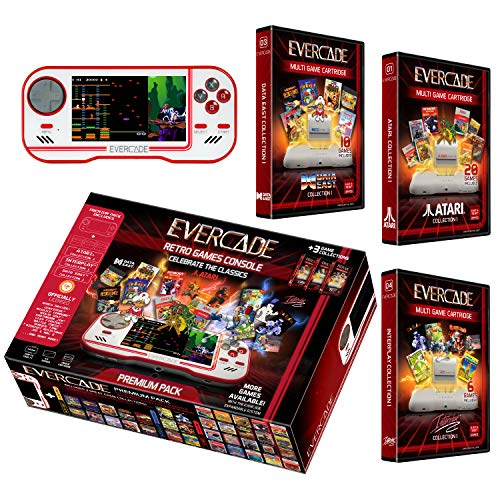 Evercade Premium Pack Includes 3 Cartridges Collections: Atari Volume 1, Interplay Volume 1 and Dataeast Volume 1…