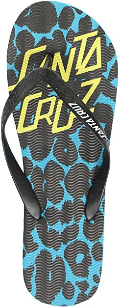 SANTA CRUZ DEMON DOT FLIP FLOP SANDALS Blue Santa Cruz Sandals /& Beach Shoes