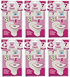 Coverlet Travel Pack of 6 PACKS (42-COUNT) Disposable Toilet Seat Cover / Cobertor De Sanitario Desechable 42 Count