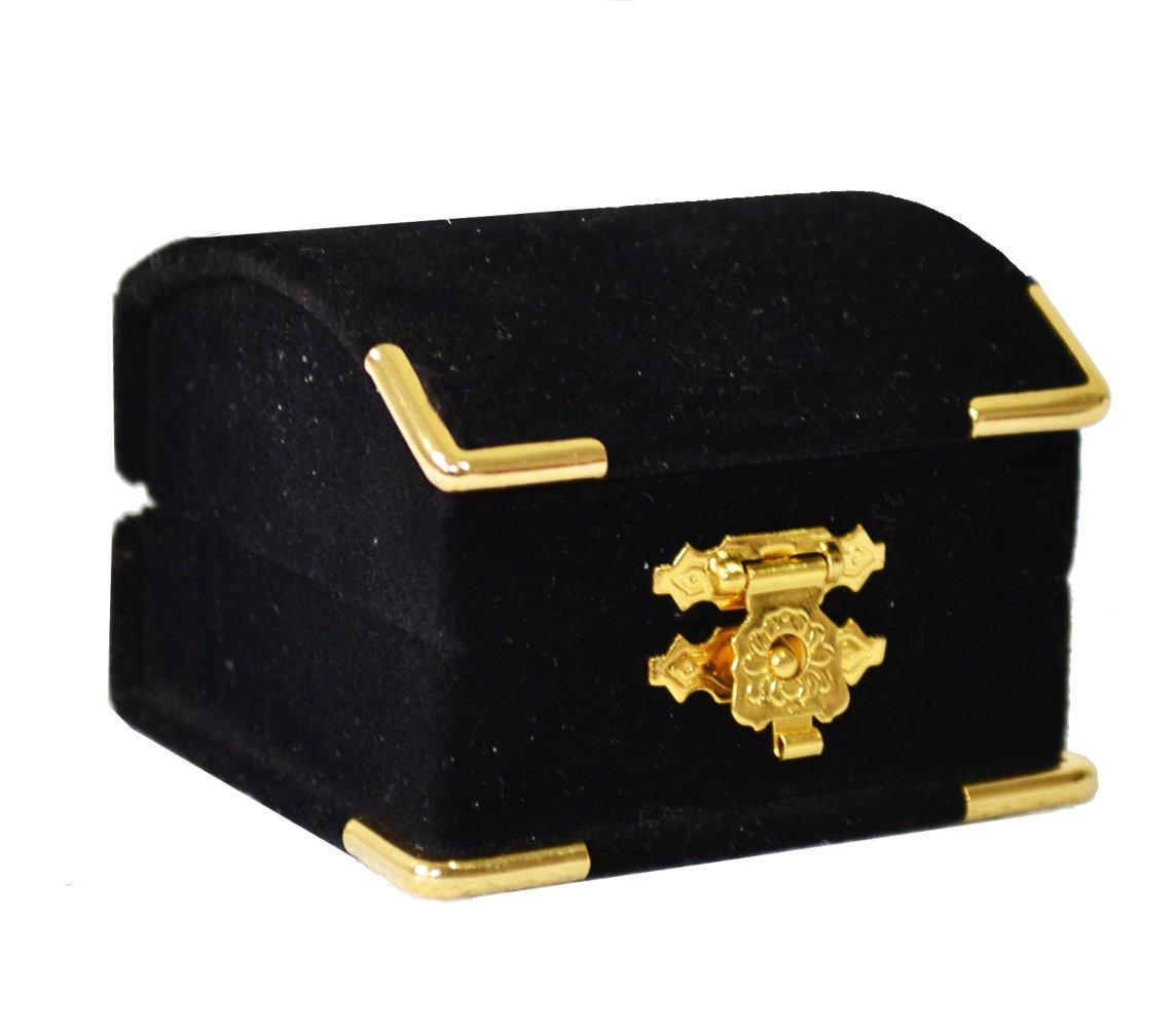 Treasure Chest Style Velvet Ring Box Geff House