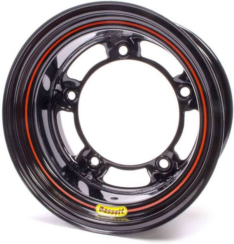 15x8 in Wide 5 Bassett Wheels Wide 5 Spun Steel Black 2in BS