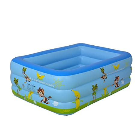 Wotryit Inflatable Bath Tu Tub Swimming Pool Kids Raft Kiddie Lounger