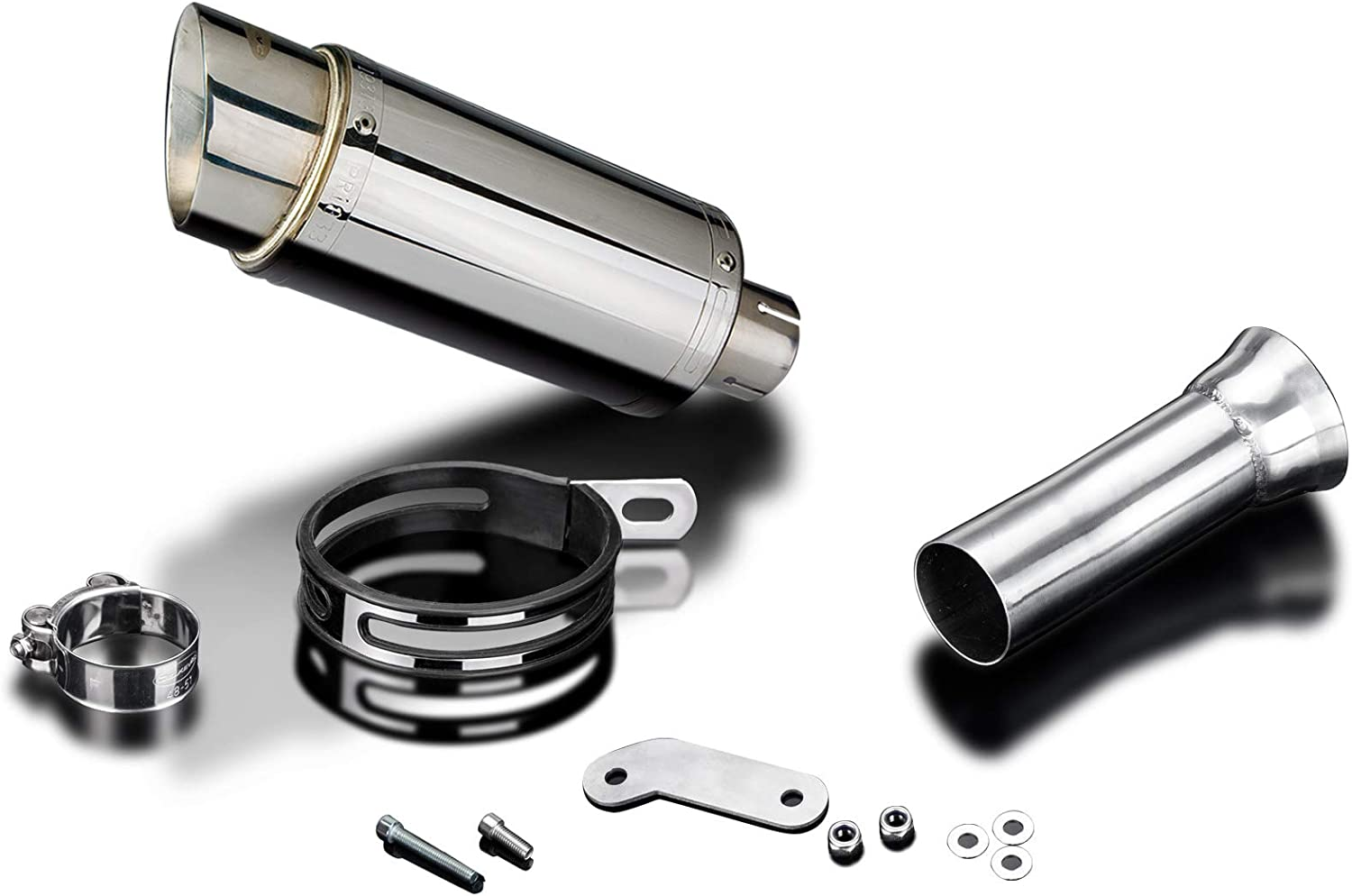 Delkevic Aftermarket Slip On Mini 8 Stainless Steel Round Muffler compatible with KTM 1090 1190 Adventure /& 1290 Super Adventure 2014-2019