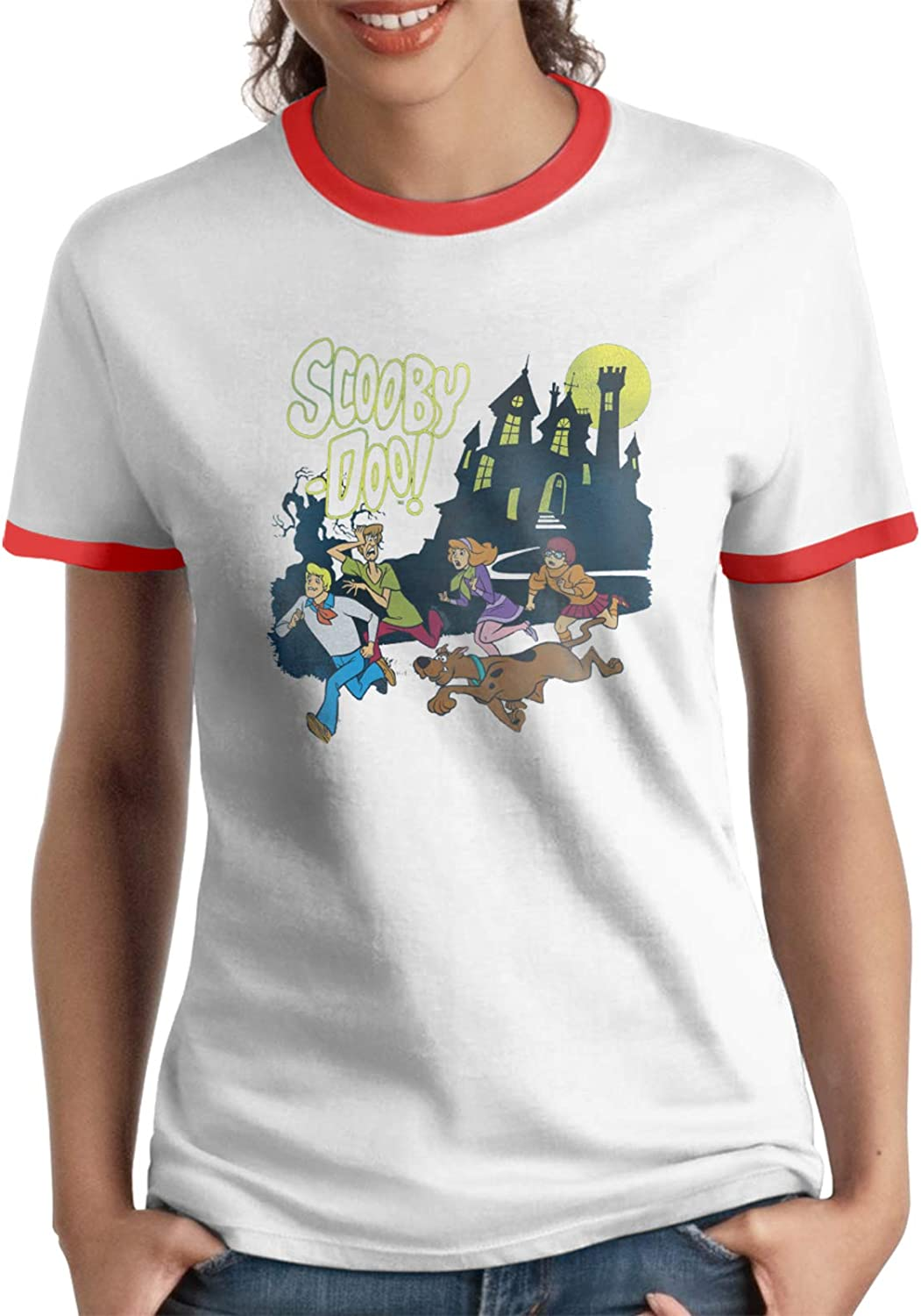 Womans Scooby Doo Breathable Tshirtslarge Size