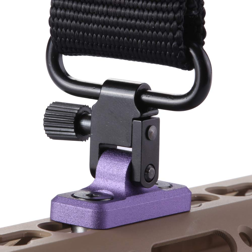 TuFok Keymod Sling Mount Sling Adapter - Gun Sling Attachment for Keymod System, fit Uncle Mikes Style Sling Swivel, Low Profile Design,Aluminum (Purple) by TuFok