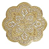 Hoffmaster GO912SP Foil Lace Doily, Round, 12'' Diameter, Gold (Pack of 500)