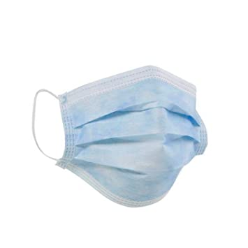 Ply Bulk Smartcare Of 100 Pack blue 2 Packing Pieces Face - Mask Cloth Elastic