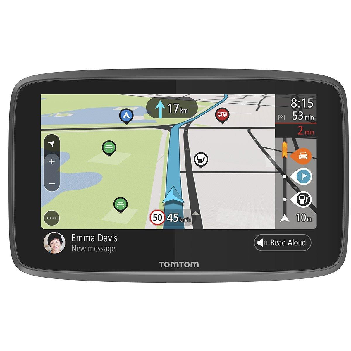 TomTom Camper - Navegador de 6 Pulgadas (con actualizaciones Mediante Wi-Fi, PDI para caravanas y autocaravanas, mapas para Toda la Vida de Todo el Mundo, ...
