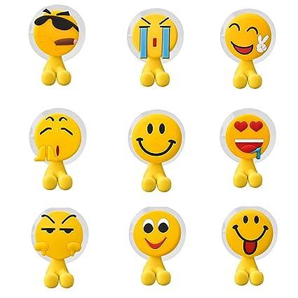 Divertido Emoji Emoticono Juego de soporte para cepillos de dientes cepillo de estilo para niños,