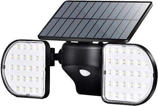 Luces solares al aire libre, inducción del cuerpo humano Luces de pared solares, 56 LED Luz solar para jardín Garaje Patio Patio Escalera Iluminación de seguridad: Amazon.es: Iluminación
