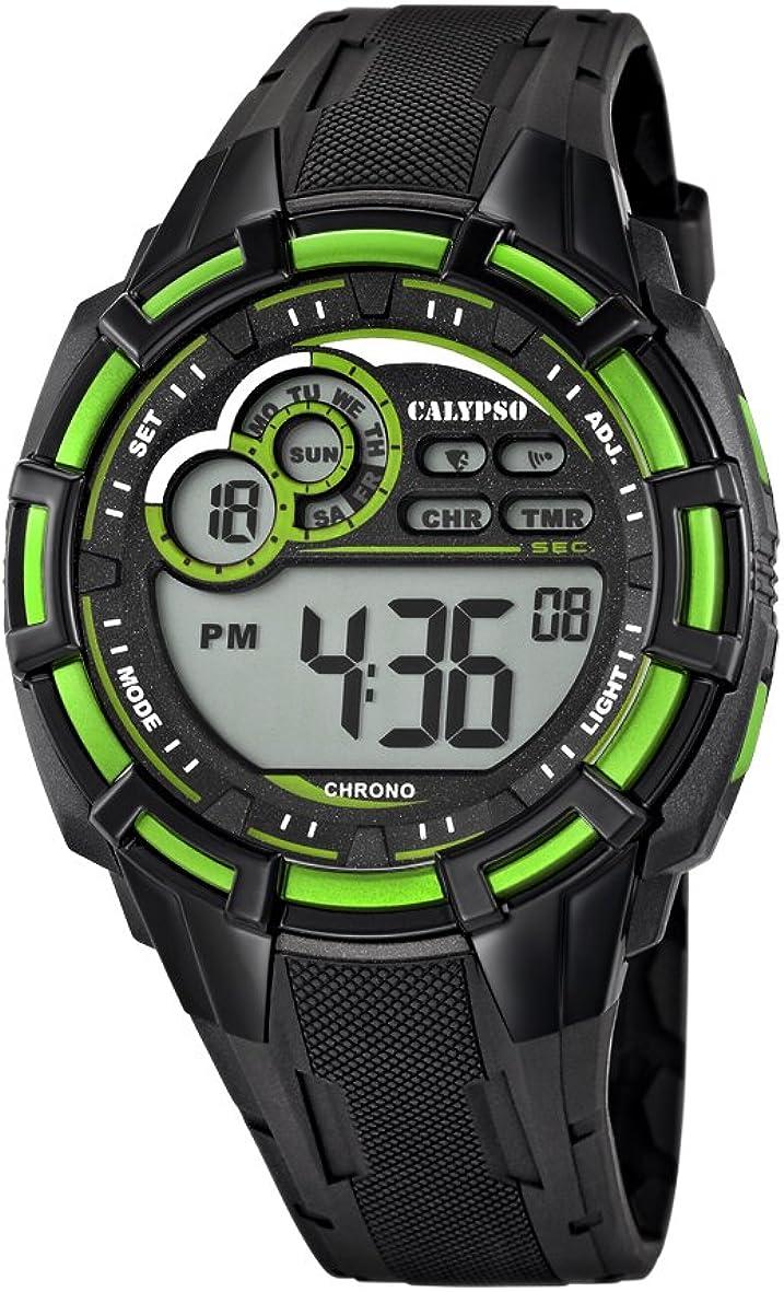 Calypso Reloj Cronógrafo para Hombre de Cuarzo con Correa en Silicona K5625/3