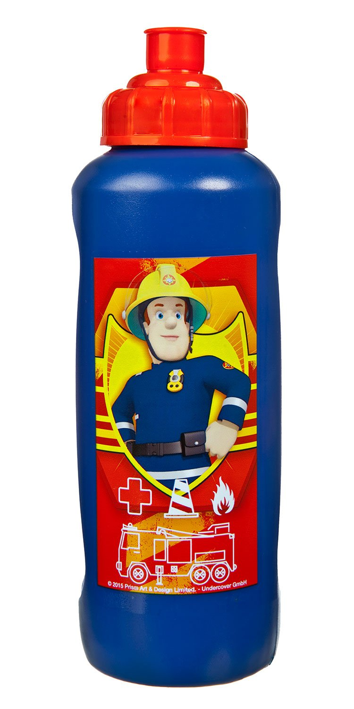 Undercover FSBT9911 - Sportflasche Feuerwehrmann Sam, 450 ml, rot