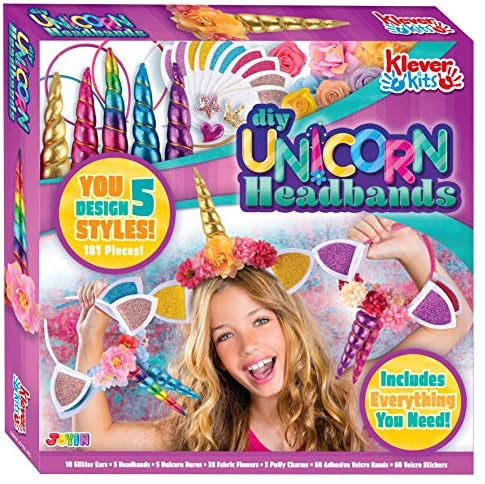 Klever Kits Create Your Own Unicorn Headband Girls Art & Craft Kit DIY Unicorn Fashion Headband Hair Accessories