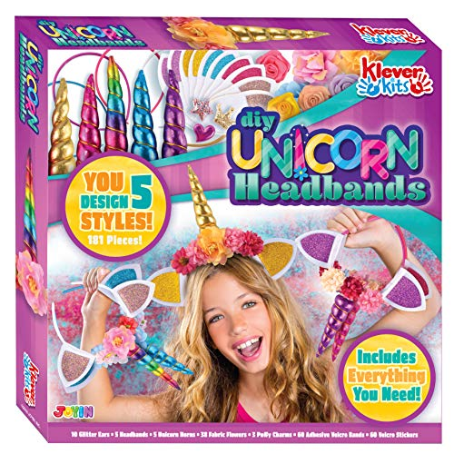 Diy Unicorn Horn (Klever Kits Create Your Own Unicorn Headband Girls Art & Craft Kit DIY Unicorn Fashion Headband Hair)