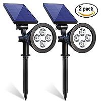 Deals on 2 Pack Iextreme Solar Spotlights,Waterproof Solar Spotlight.