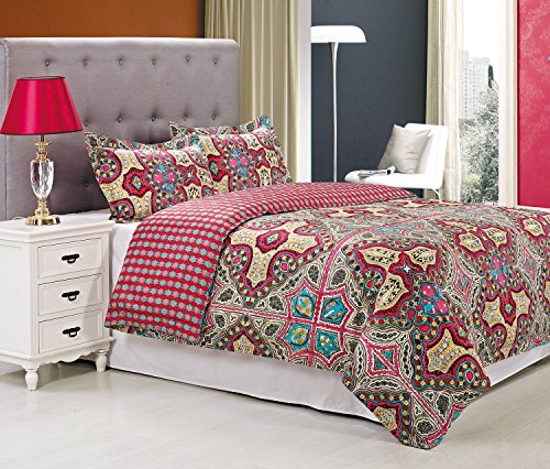 Superior Wildberry Duvet Cover Set, Single-Ply Authentic 300 Thread Count, Full/Queen ()