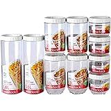 LOCK&LOCK 乐扣乐扣 塑料保鲜盒厨房用品储物箱密封罐储物罐十件套INL301S902 白色