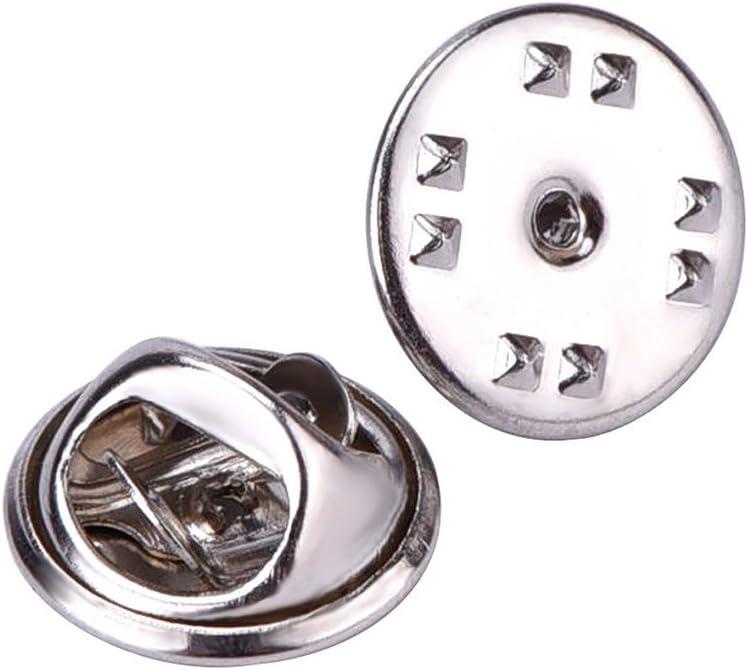 Silber BESTONZON 50 St/ück Schmetterlings-Abzeichen Abzeichen Clutches Pin Back Ersatz