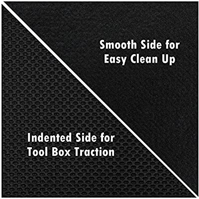 Mod-Box Tool Box Drawer Liner, Heavy Duty 3/16 in Thick, Non-Slip Solid Surface (Extra Thick, 18