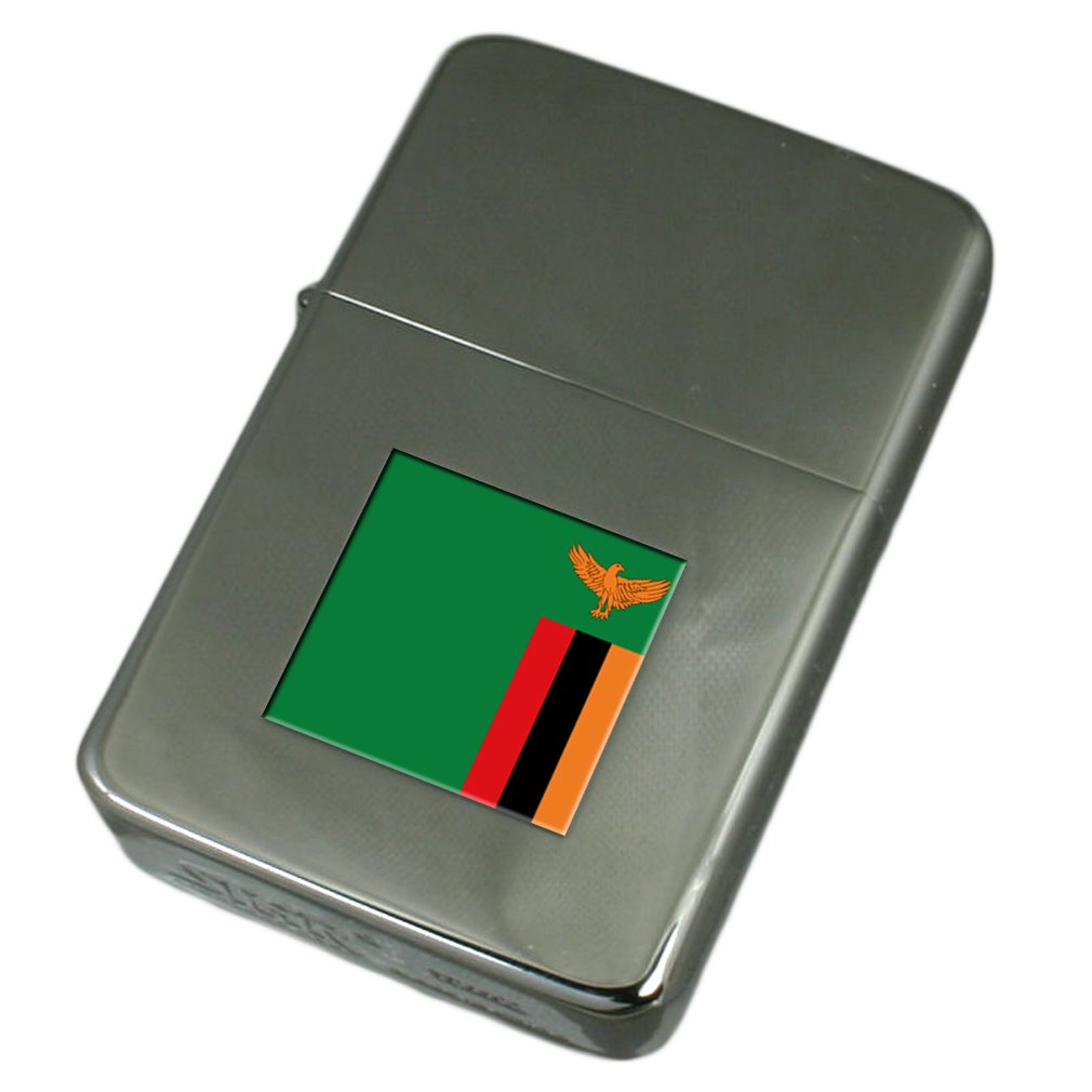 Engraved Lighter Zambia Flag