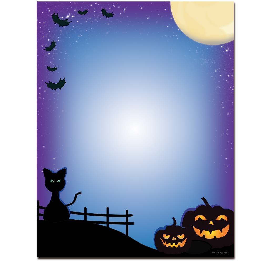 All Hallows' Eve Halloween Letterhead Laser & Inkjet Printer Paper, 500 pack