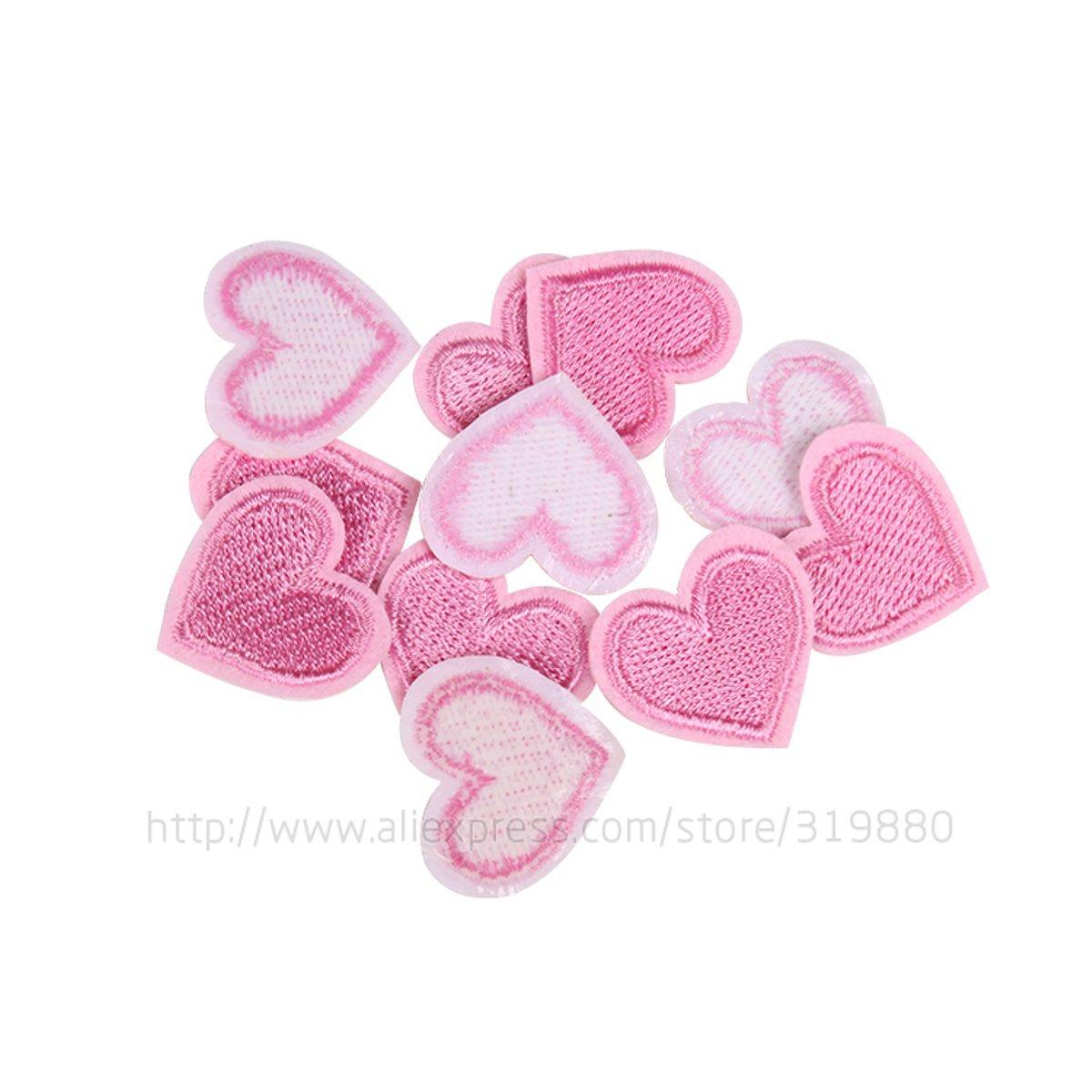 HDTTCX - Parche para planchar - parche para transferencia de ropa - 2,72,5 cm, parches de amor rosa, parches para bricolaje, ropa, bordado, capítulo, goma, ...