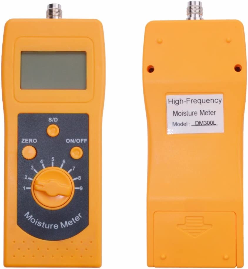 Professional Soil Moisture Meter,Portable High Frequency Sand Moisture Meter Powder Moisture Meter Tester Humidity 0/%-80/%