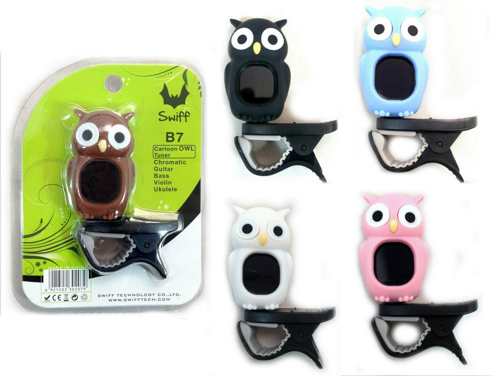 Generic Black Owl Cartoon Style Clip on Digital Chromatic Guitar Ukulele C/d Bass Violin Tuner for Harry Potter Fans Gen-9264