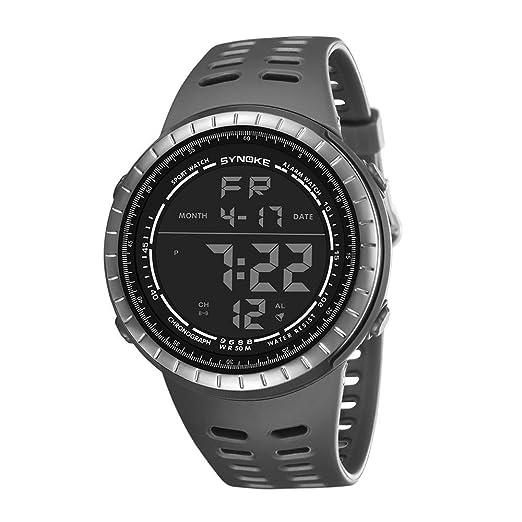 Viasa Reloj de Pulsera Digital Impermeable Multifunción Relojes de Running Trendy Reloj de Doble Acción: Amazon.es: Relojes
