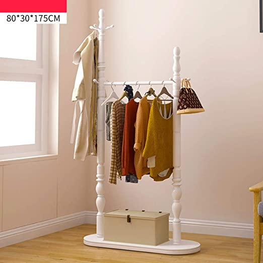 XQAQX Coat Rack Perchero de pie Perchas de Madera Maciza ...