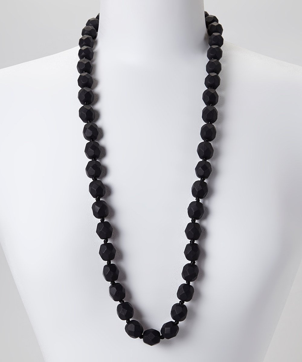 GUMEEZ Lyla Teething Necklace -BLACK by GUMEEZ