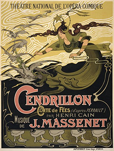 Cinderella Massenet Opera Cendrillon Fairy Godmother. Paper Poster