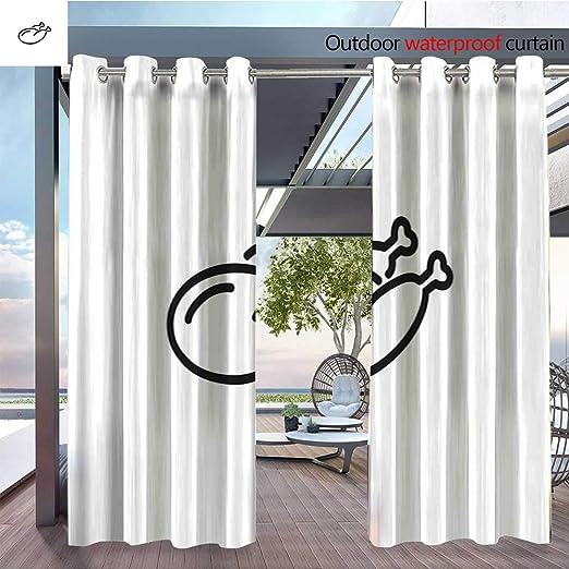 QianHe - Cortinas de Exterior y Exterior de Pollo con Patas 1.jpg para Bloquear la luz del Patio, Cortinas, a Prueba de Agua: Amazon.es: Jardín