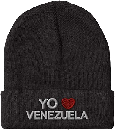 Unisex Knitted Hat Skull Hat Beanie Cap for Mens and Womens I Love Cuba Cuban Flag