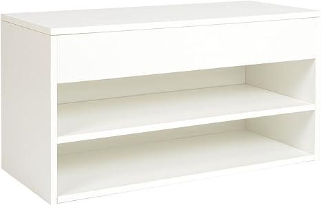 ts-ideen Estantería Zapatero Blanco de Madera Blanca 12 Zapatos de 43 x 80 cm