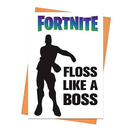 Funny Birthday Card Fortnite Boyfriend Husband Floss