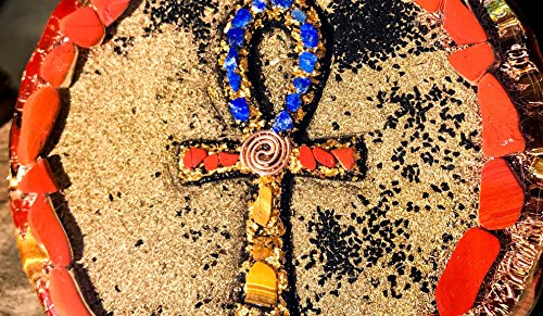 Violet Flame Orgone ~ Orgonite Ankh Charging Plate ~ EMF Protection Cleansing Plate by Violet Flame Orgone (Image #4)